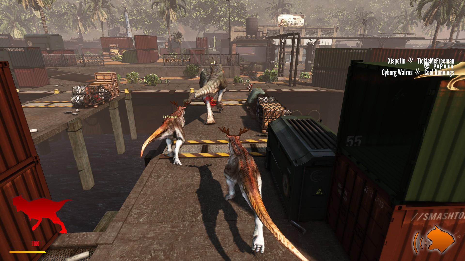 Vidéo sur le jeu Primal Carnage Extinction, jeu multijoueur ou nous pouvons faire partie de l'équipe humaine ou de celle des Dinosaures. Game Primal Carnage: Extinction